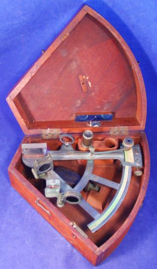 1840 ' S R.  Wallace Sextant/octant - Transition Instrument - Brass W/ivory Scales photo