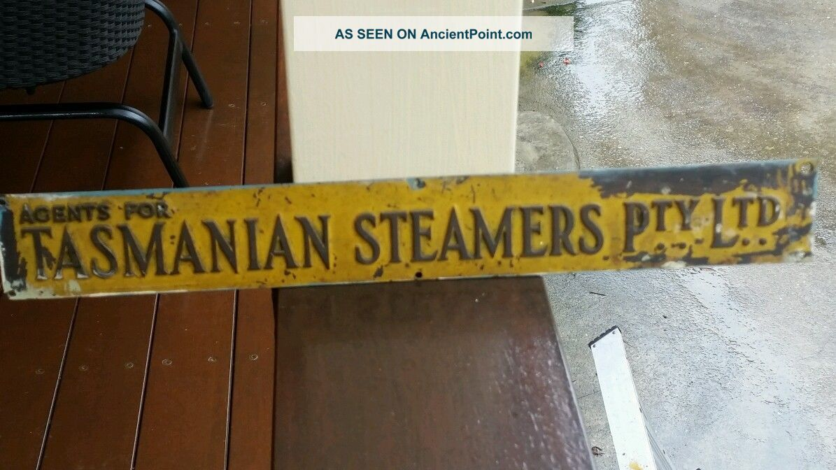 Vintage Maritime Brass Sign Other Maritime Antiques photo