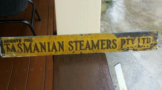 Vintage Maritime Brass Sign photo