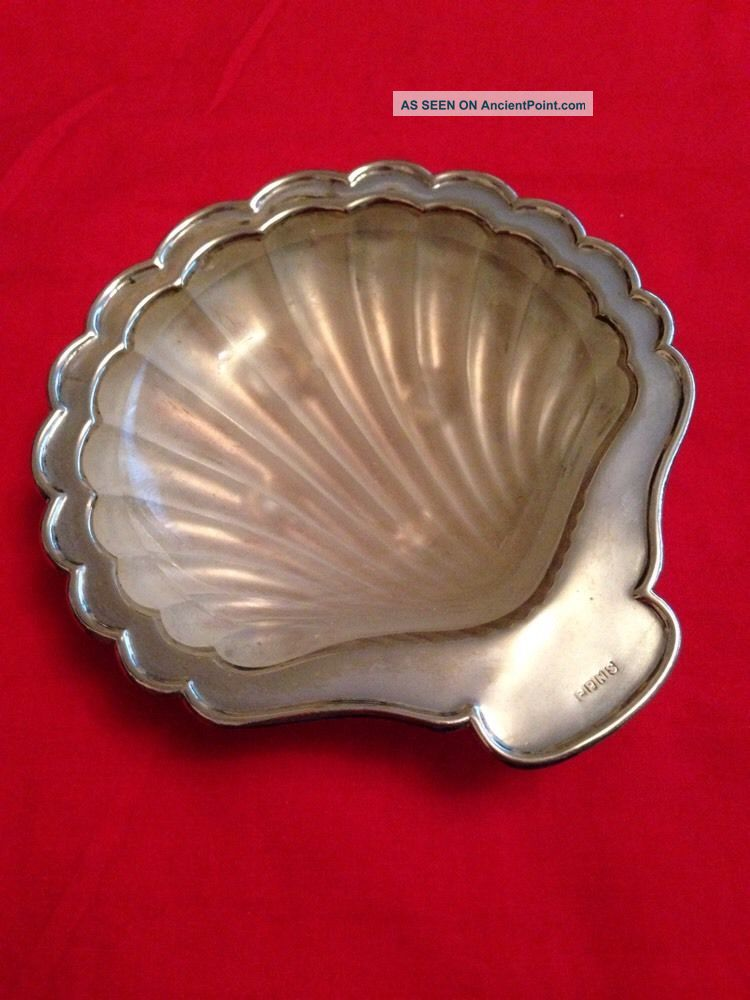 Vintage Silver Plated Caviar Dish With Glass Liner Dishes & Coasters photo
