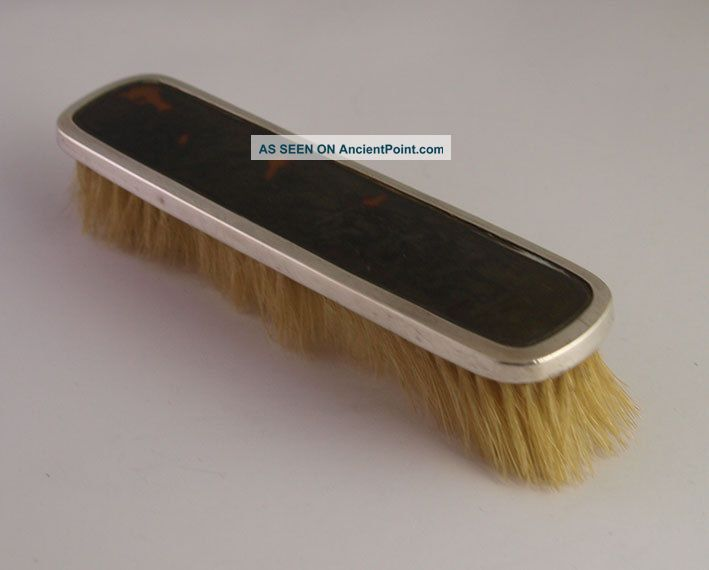 Solid Silver & Faux Tortoiseshell Clothes Brush - Birm.  1926 Brushes & Grooming Sets photo