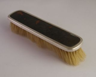 Solid Silver & Faux Tortoiseshell Clothes Brush - Birm.  1926 photo