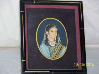 Persian Islamic Hand Painted Portrait Painting Artist Signed Framed photo
