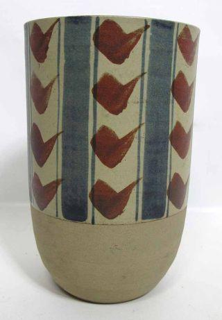 Japan Deco Mid Century Modern Eames Era Studio Vase Ex Takahashi Sf - Touzan Yqz photo
