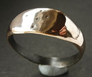 Medieval Æ Cross Decorated Ring - Wearable photo