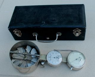 Antique Vintage Jules Richard Paris Anemometer Wind Instrument Weather Mining photo