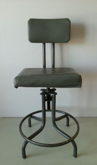 Vintage Mid Century Industrial Modern Sturgis Posture Drafting Chair photo