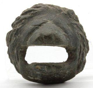 Ancient Greek Bronze Lion's Head Spout 500 Bc photo