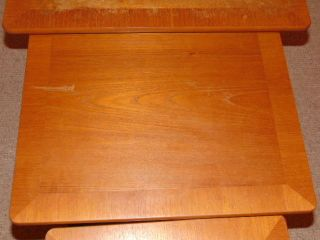 Large Stylish Vintage Retro Parker Knoll Teak Nest Of Tables Ship Worldwide photo