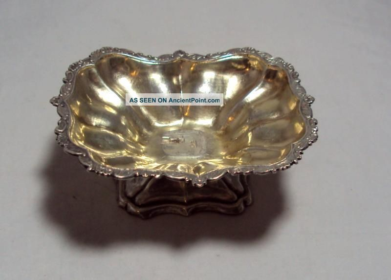 Antique 84 Silver Russian Open Salt Dish 1847 Moscow Ak 37.  7 G Russia photo