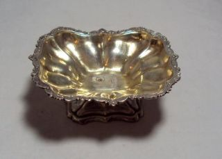 Antique 84 Silver Russian Open Salt Dish 1847 Moscow Ak 37.  7 G photo