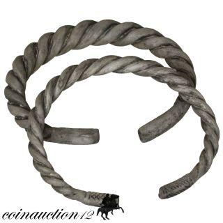 Scarce Silver Celtic Bracelets 300 - 100 Bc photo