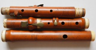 T.  Prowse - Hannay St London - Boxwood Flute With Ivory - Four Key - Rare Find photo