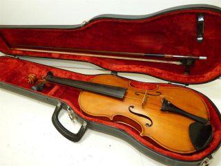 1967 Karl Hofner Germany 3/4 Scale Student Size Vintage Violin W/ Case & Bow photo