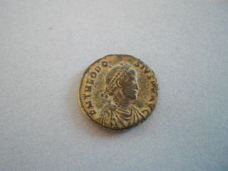 Bronze Theodosius 1.  (015449). photo