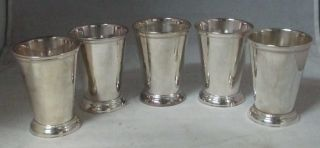 Towle Silversmith 5 Silverplate Julep Cups Since 1690 In Boxes photo