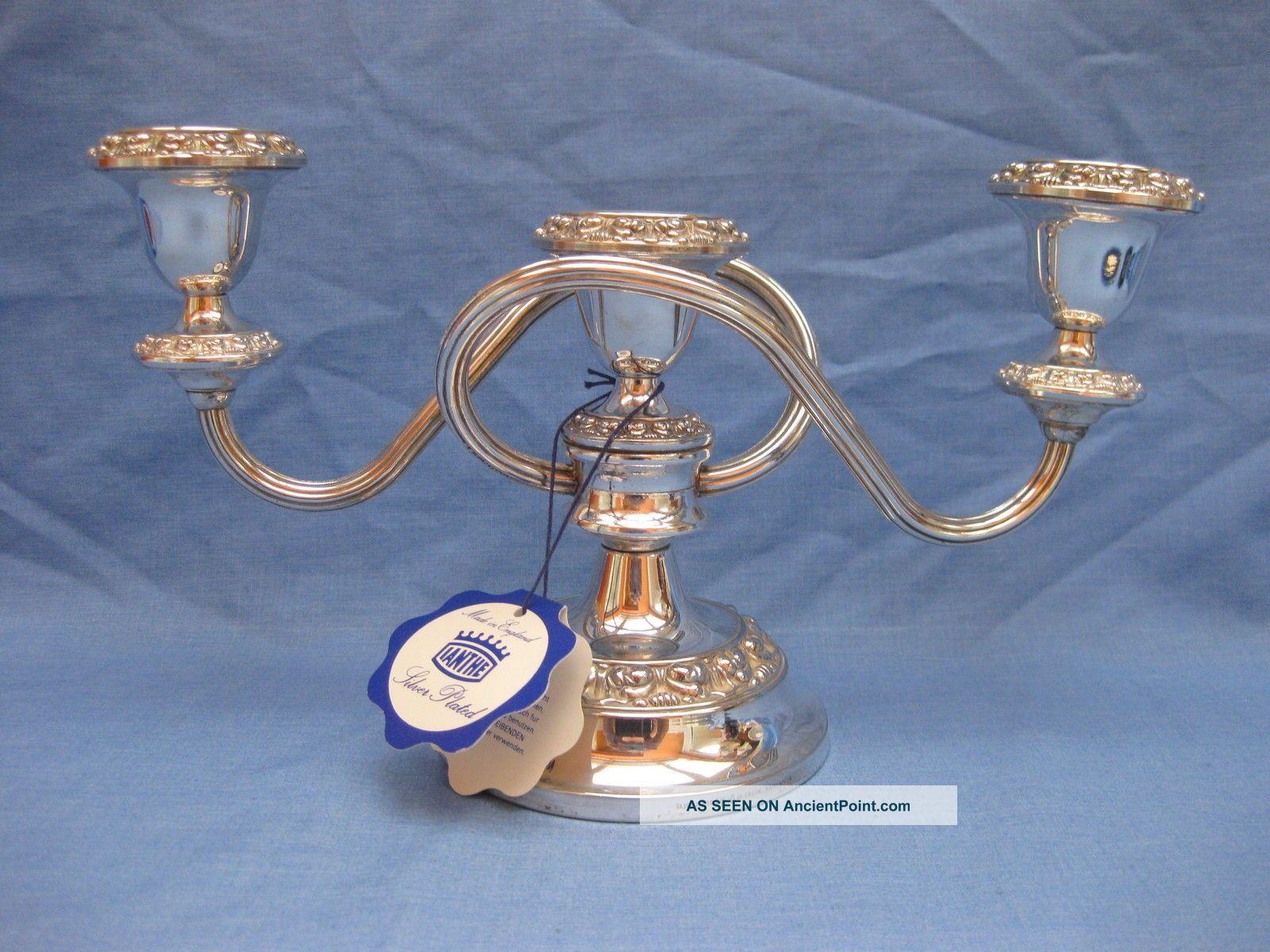 Ianthe Silver Plated Candelabra /centrepiece /candleholder 6