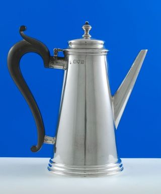 A Victorian Sterling Silver Coffee Pot photo