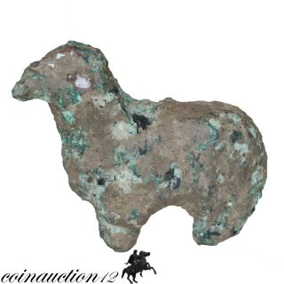 Bronze Age As Found Uncleaned Ancient Greek Bronze Ram Statue 2500 - 1500 Bc photo