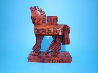 Hand Made Wooden Figurine - The Trojan Horse photo