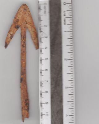 Large Viking Type Arrowhead Relic From Southeast Europe Era 100 - 300 Ad. photo