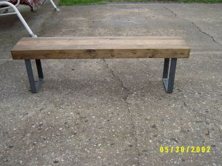 Industrial Wood And Steel Bench 5 ',  Bench,  Wood,  Reclaimed Material,  Wood Bench photo