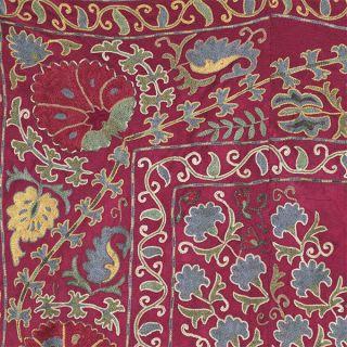 Soft Silk Handmade Suzani From Bukhara.  Uzbekistan 5113 photo