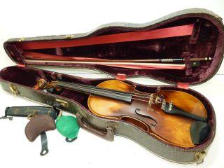 1969 Karl Hofner Germany 4/4 Scale Full Size 609 Vintage Violin W/ Case & Bow photo