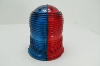 Red & Blue Glass Beacon Lens Aircraft Runway Boat Ship Lamp Light (304) photo