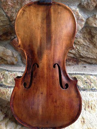 Antique Old Violin,  No Label,  Italian School photo