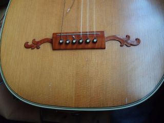 Vintage Old Antique German Guitar Lute - Fine Woods photo