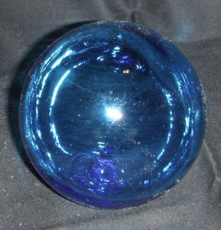 Blue Glass Ball Fishing Net Float - Age Unknown photo