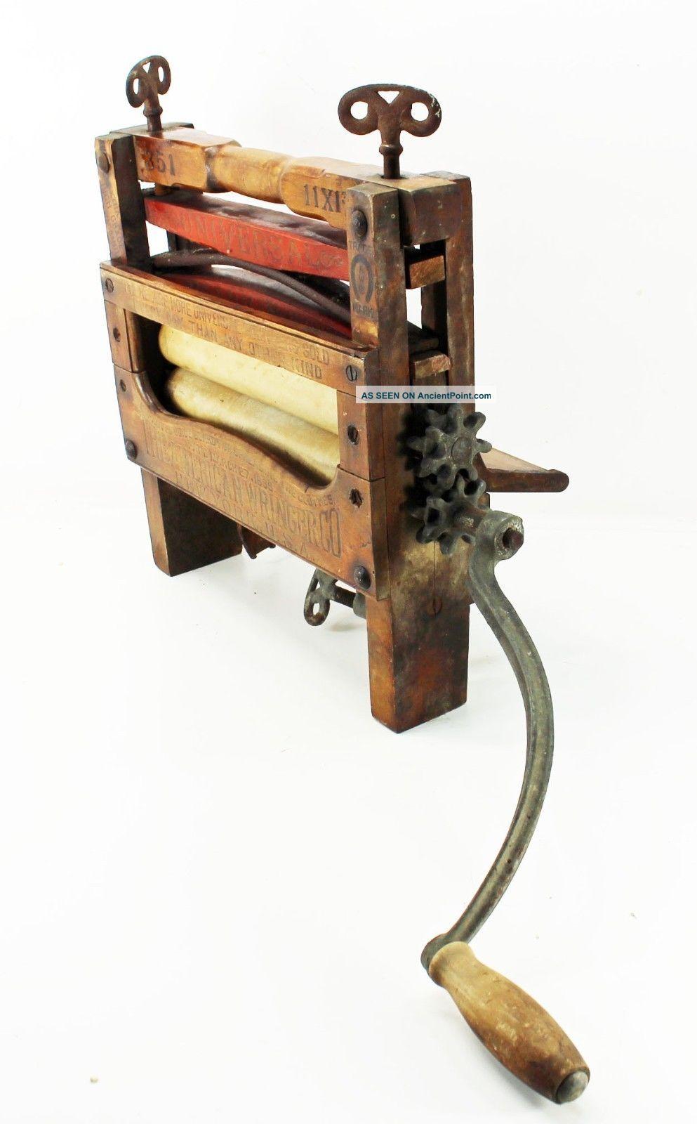 Antique American Wringer Co Hand Crank Clothing Wringer 351 Keystone 1888 Ny Clothing Wringers photo