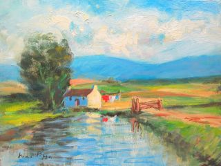 Irish Landscape Painting Ireland Well Listed American Farm ' S Reflections photo
