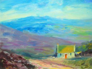 Irish Landscape Painting Ireland Well Listed American Connemara Laundry Day photo