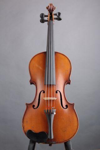 Antique Conservatory 4/4 Violin W/ Case Plus F.  R.  Hoyer & G.  A.  Pfretzschner Bow photo