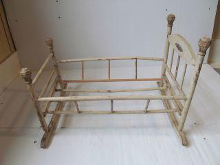 Vintage Wooden Baby Cradle Crib 18