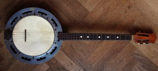 Old Banjo Alte Antico Ancienne Mandoline Mandolin Mandolino Mandola Lute Liuto photo