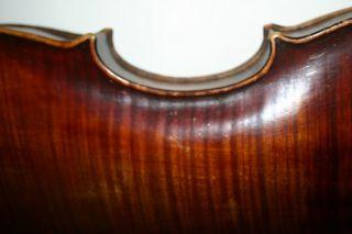 Old Antique 4/4 Italian? Austrian? Violin Label Dechler Repair Plays photo