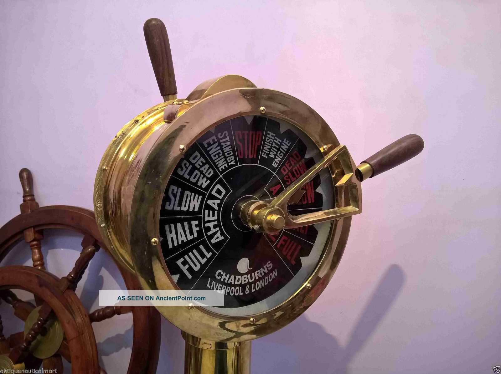 Brass Ship ' S Telegraph Engine Order Antique Maritime Collectible Decorative 43