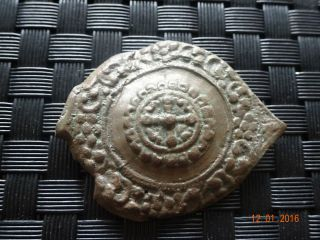 Antiques Roman Bronze Buckle Found With Metal Detector photo