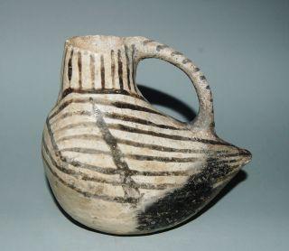 Prehistoric Mesa Verde Black On White Pottery Duck Effigy photo