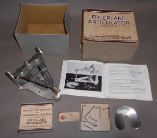 C1930 Vintage Freeplane Articulator,  Parts Amalgamated Dental Co photo