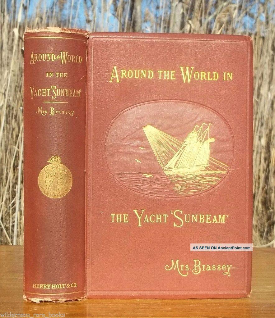 1882 Antique Yacht Yachting World Voyages Ceylon Singapore Rio De Janeiro Tahiti Other Maritime Antiques photo