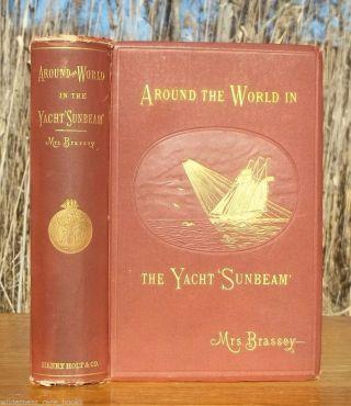 1882 Antique Yacht Yachting World Voyages Ceylon Singapore Rio De Janeiro Tahiti photo