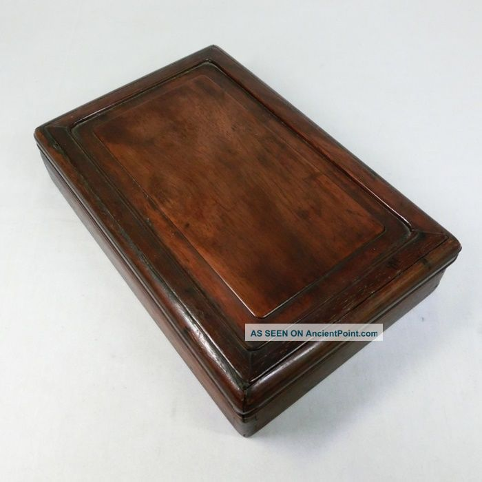 H650: Japanese Wooden Ink Stone Case Made From Popular Karaki. Boxes photo