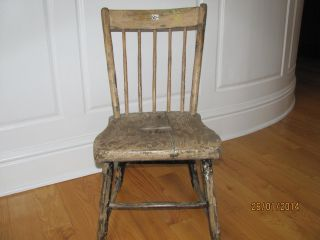 Antique American Windsor Side Chair - Farm Chair photo