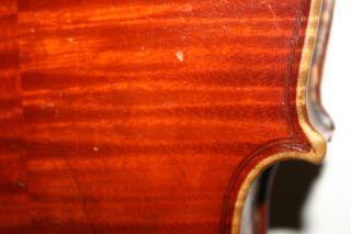 Old Antique 4/4 German Violin Early H.  Th.  Heberlein 1883 Italian Sound No Res photo