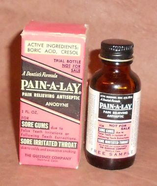 C1930 Vintage Dental Bottle - Dentist ' S Formula Pain - A - Lay photo