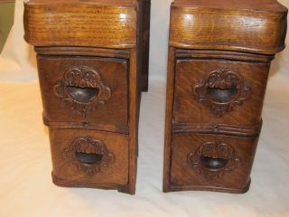 Vintage Sewing Machine Wood Cabinets photo